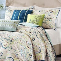 Madison Park Camilla Multi/ Green 6-piece Coverlet Set