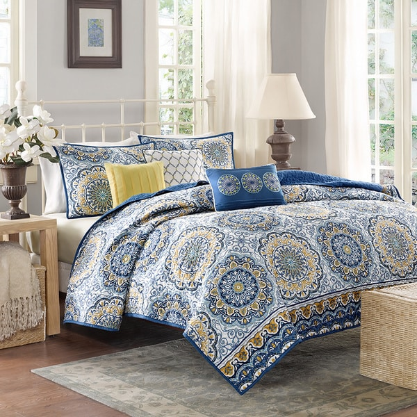 Madison Park Moraga 6 Piece Coverlet Set Free Shipping