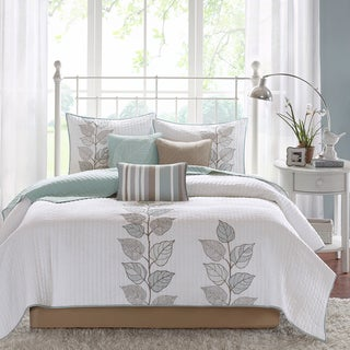 Madison Park Rochelle 6-piece Reversible Coverlet Set