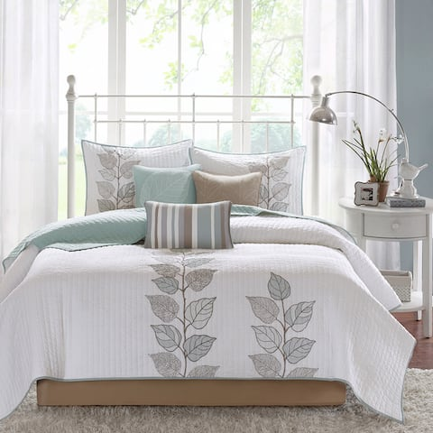 Madison Park Rochelle 6 Piece Reversible Coverlet Set