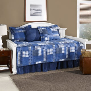 Eddie Bauer Eastmont Blue Plaid 5-piece Daybed Quilt Cover Set