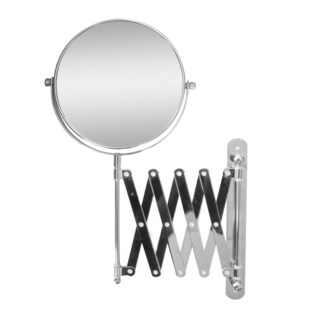 Extendable Wall Mount 2X Magnifying Makeup Mirror by Elegant Home Fashions