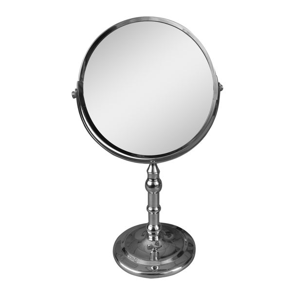 free standing shaving mirror with light led lights vintage design magnifying makeup ikea white freestanding
