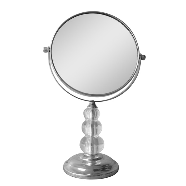 Free Standing Bead Design 5X Magnifying Makeup Mirror by Elegant Home Fashions