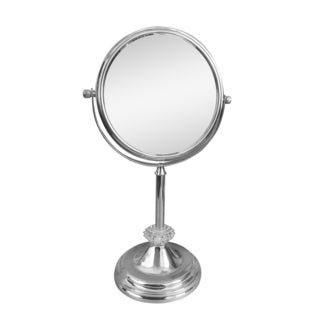 Free Standing Sunburst 5X Magnifying Makeup Mirror by Elegant Home Fashions