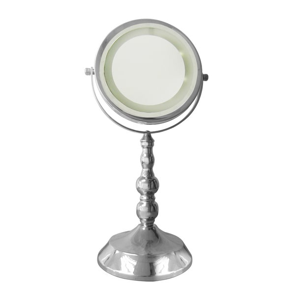 Free Standing 3x Magnifying Lighted Makeup Mirror Free