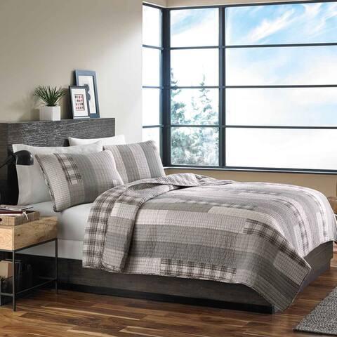 Eddie Bauer Fairview Cotton Reversible 3-piece Quilt Set