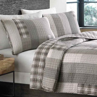 Eddie Bauer Fairview Cotton Reversible 3-piece Quilt Set