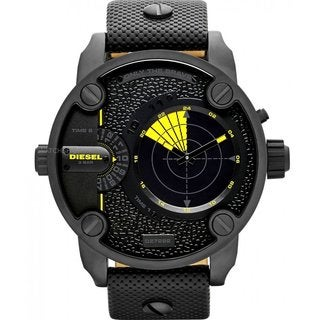 Diesel Men's 'Little Daddy' Black Dual Time Watch