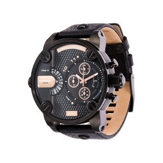 Diesel Men's 'Little Daddy' Black Chronograph Watch