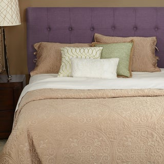 Humble + Haute Stratton Iris Purple Linen Full Tufted Upholstered Headboard