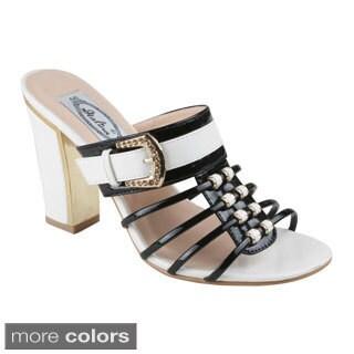 Italina Women's Strappy Slide Chunky Heel Sandals