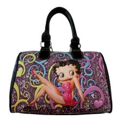 Women's Betty Boop Signature Product Betty Boop Satchel BP2082 Black