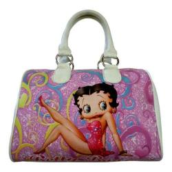 Women's Betty Boop Signature Product Betty Boop Satchel BP2082 White