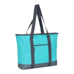 Everest Shopping Tote DS (Set of 2) Aqua Blue/Gray