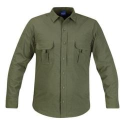 Men's Propper Summerweight Tactical LS Shirt - Long Olive Green