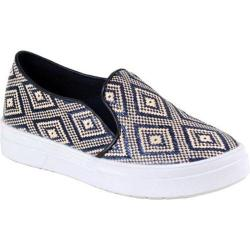 Women's Reneeze Olga-4 Tribal Slip On Sneaker Navy Synthetic