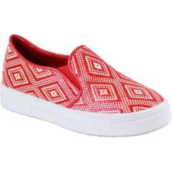 Women's Reneeze Olga-4 Tribal Slip On Sneaker Red Synthetic