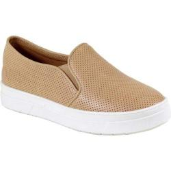 Women's Reneeze Olga-5 Perfed Slip On Sneaker Beige Synthetic