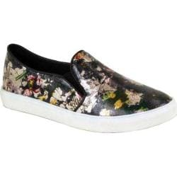 Women's Reneeze Oma-02 Floral Slip On Sneaker Black Synthetic