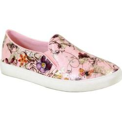 Women's Reneeze Oma-02 Floral Slip On Sneaker Pink Synthetic