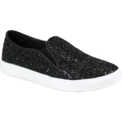 Women's Reneeze Oma-3 Glitter Slip On Sneaker Black Synthetic