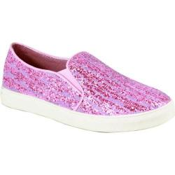 Women's Reneeze Oma-3 Glitter Slip On Sneaker Purple Synthetic
