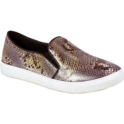 Women's Reneeze Oma-4 Snake Slip On Sneaker Brown Synthetic