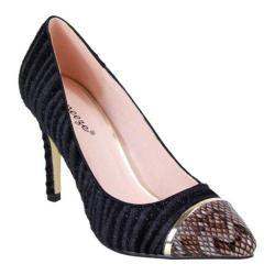 Women's Reneeze Osana-2 Zebra Snake Pump Black Synthetic
