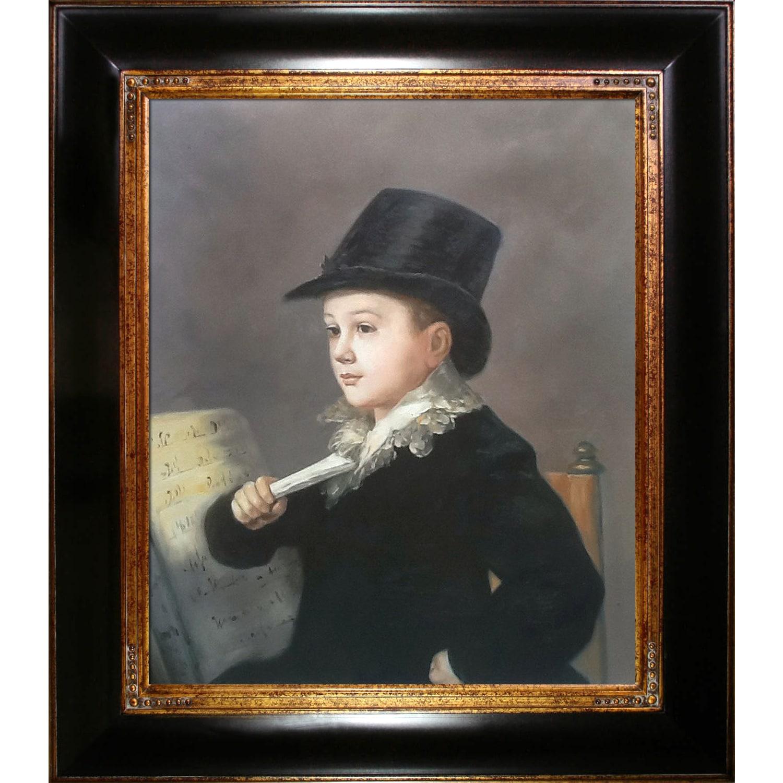 Francisco Goya 'Portrait of Mariano' Hand Painted Framed Canvas Art