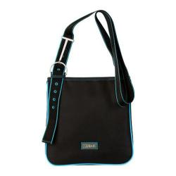 Women's Hadaki by Kalencom Sponge Nylon Zippered Scoop Sling Black/Teal