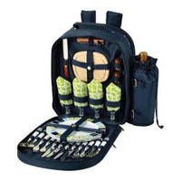 Picnic at Ascot Picnic Backpack for Four Trellis Green