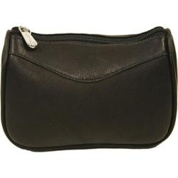 Women's Piel Leather Carry-All Zip Pouch 2845 Chocolate Leather