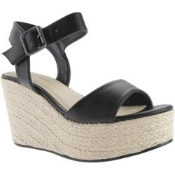 Women's Michael Antonio Antee Wedge Black Polyurethane