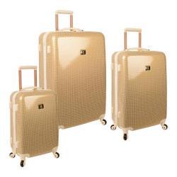 Anne Klein Manchester Gold/Cream 3-piece Hardside Spinner Luggage Set