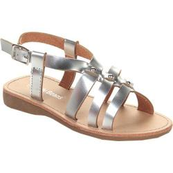 Girls' Beston Hollow Sandal Silver Faux Leather