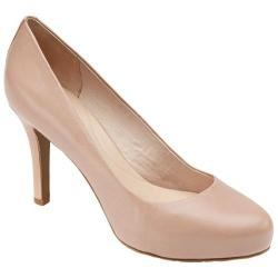 Women's Rockport Seven to 7 95mm Plain Pump Warm Taupe Leather