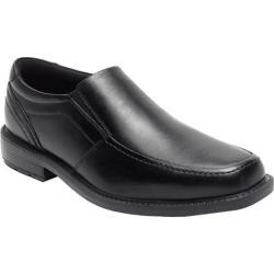 Men's Rockport Style Leader 2 Moc Toe Slip On Black Leather