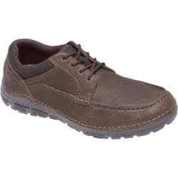 Men's Rockport Zonecush Rocsports Lite Moc Toe Dark Brown Leather