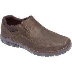 Men's Rockport Zonecush Rocsports Lite Mudguard Slip On Dark Brown Leather