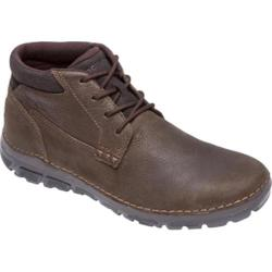 Rockport Men's Boots Zonecush Rocsports Lite Dark Brown Leather