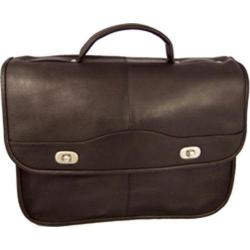 Men's David King Leather 117 Top Handle Flap Front Expandable Cafe