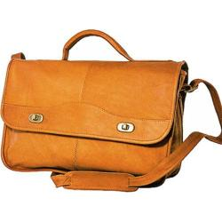 Men's David King Leather 117 Top Handle Flap Front Expandable Tan