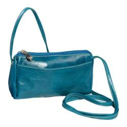 Women's David King Leather 3501 Florentine Top Zip Mini Bag Blue