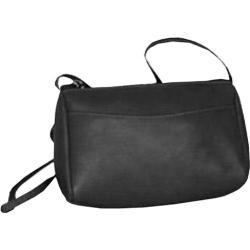 Women's David King Leather 501 Top Zip Mini Bag Black