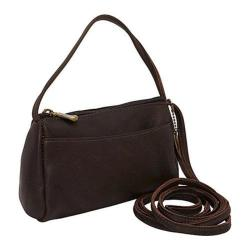 Women's David King Leather 501 Top Zip Mini Bag Cafe