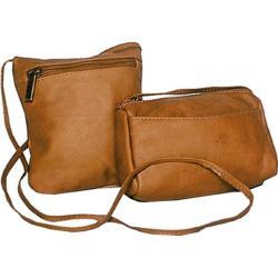 Women's David King Leather 507 Top Zip Mini Bag Tan