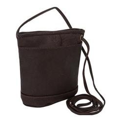 Women's David King Leather 512 Top Zip Mini Bag Cafe