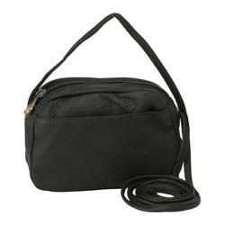 Women's David King Leather 517 Top Zip Mini Bag Black
