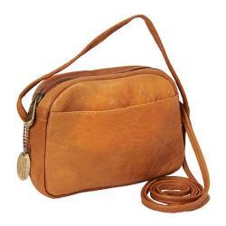 Women's David King Leather 517 Top Zip Mini Bag Tan